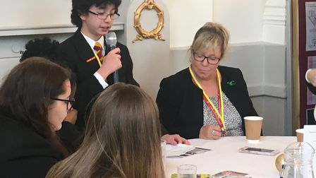 Pupils and teachers from Marlborough Science Academy were among those taking part in a positive ment