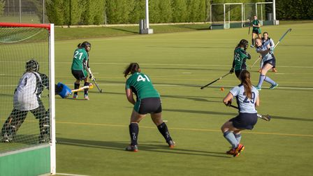 Action from the East Women's League derby clash between St Ives 1sts and St Neots 1sts. Picture: ADA