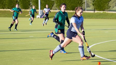 St Neots 1sts player Kirsty McKenzie on the attack against St Ives 1sts. Picture: ADAM CUNDICK