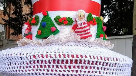 The yarnbombers' creations have appeared on post boxes in Barley, Barkway and Great Chishill. Pictur