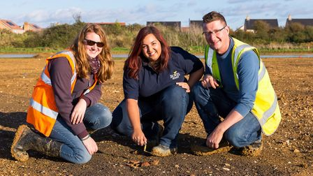 Local residents were invited to Sawtry to see some of the items found at the site.