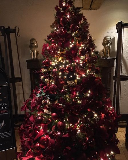 The beautiful Christmas tree which welcomed us to Thai Square St Albans. Picture: Nick Gill