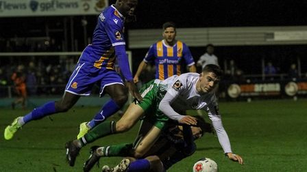 Jamie Fielding in action for St Albans City. Picture: JIM STANDEN