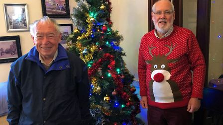 Rotarians Tony Briar and Jim Webb at St George''s Nursing Home in Royston. Picture: Neil Heywood