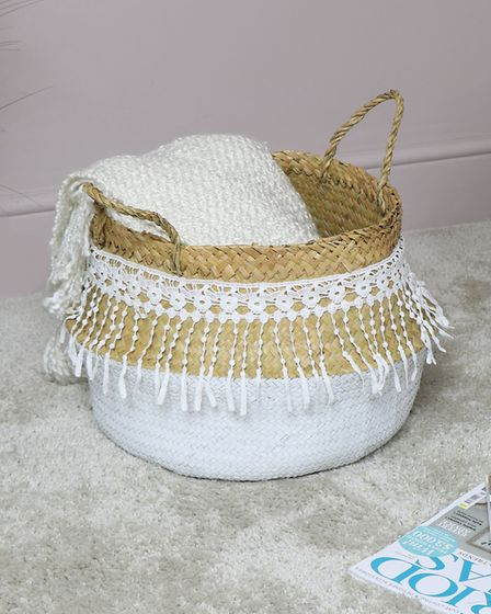 1. White Woven Lacy Storage Basket, Melody Maison. Picture: PA Photo/Handout