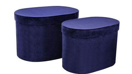 8. Set of 2 Curved Velour Storage Boxes, Next. Picture: PA Photo/Handout