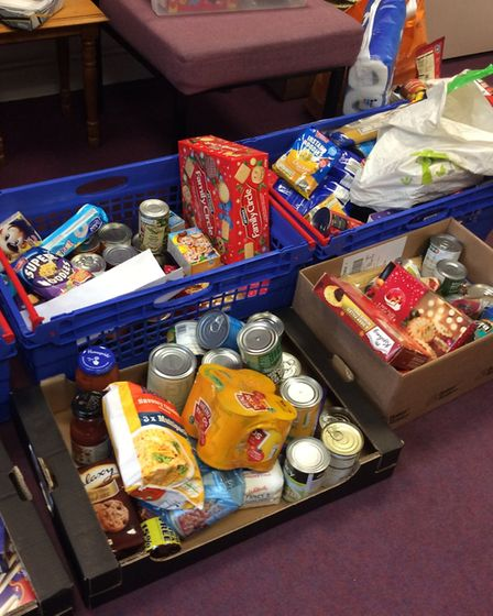Reverse Advent Calendar boxes ready for donation Picture: Mrs Lavelle-Murphy and Miss Howard