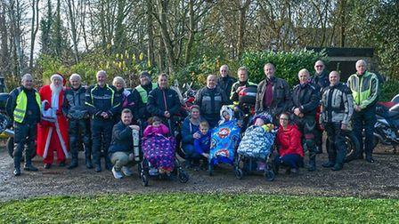 The Royston & District Motorcycle Club members who took part in the ride to Milton. Picture: Douglas