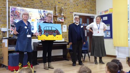 Heathlands School, St Albans, raised money for a bus in The Gambia. Picture: Supplied