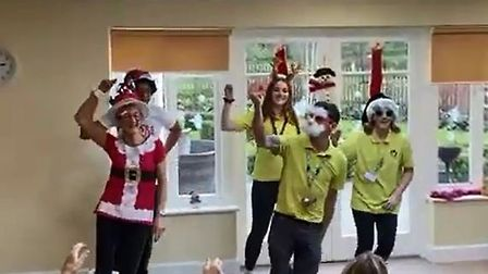 The Margaret House Christmas dancers. Picture: Margaret House