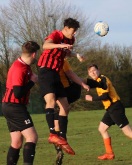 Forza Watford head for goal during their game with Marshalswick Rovers. Picture: BRIAN HUBBALL