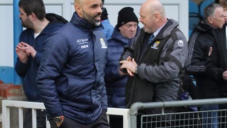 St Neots Town director of football Matt Clements ahead of their victory at Bedford Town. Picture: DA