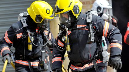 Two crews attended a blaze at the Old Bridge Hotel in Huntingdon