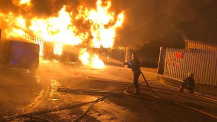 Crews were called to the fire in St Neots this morning.