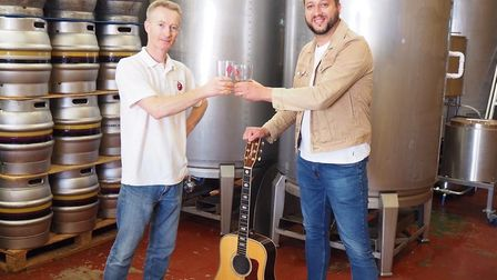 Victor Vellocette, right, teamed up with brewer Chris Jones earlier this year. Picture: VICTORIA DAR