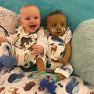Twin brothers Harley (left) and Roman (right) receive support from Rennie Grove Hospice Care at Chri