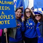 Campaigners from St Albans for Europe took part in the People's Vote March in London. Picture: Damia