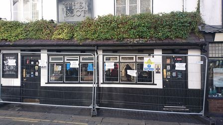 The Boot in St Albans pretneded to be closing down due to rising business rates. Picture: Anne Susla
