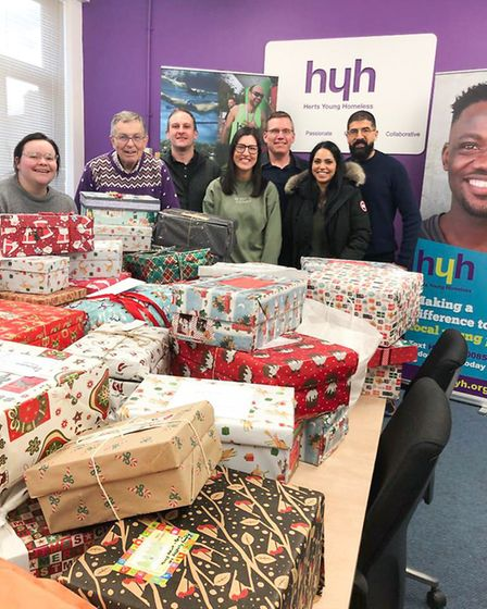 Christmas shoeboxes were donated by St Albans and Welwyn Garden residents for Operation Secret Santa