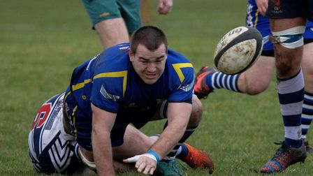 Chris Williams in action for St Ives in their defeat to table-topping Leighton Buzzard. Picture: PAU