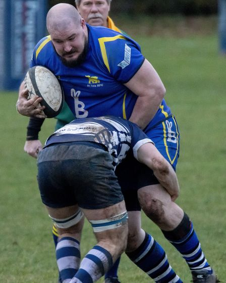Duncan Williams touched down for two tries as St Ives faced leaders Leighton Buzzard. Picture: PAUL