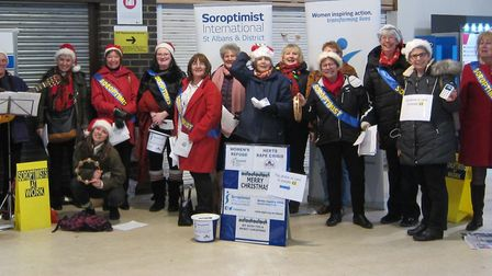 St Albans commuters were treated to Christmas carols to raise funds for charity Picture: Jane Slatte