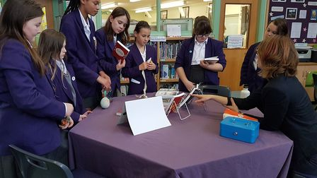 Students at Townsend School in St Albans were visited by a local author. Picture: Supplied