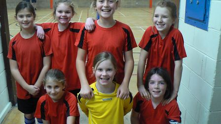 The Houghton Primary School team at the futsal event.