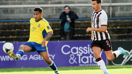 Zane Banton scored on St Albans City's last visit to Weymouth. Picture: JIM STANDEN