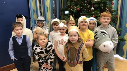 Bushmead Primary School pupils performed The Wriggly Nativity