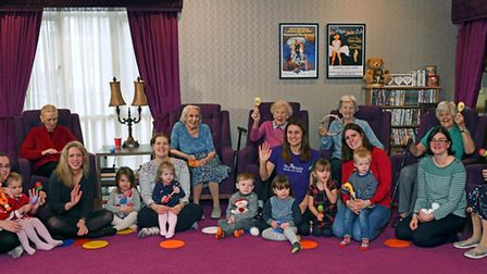 Tiny Tots Nursery children visited the Field Lodge Care Home in St Ives