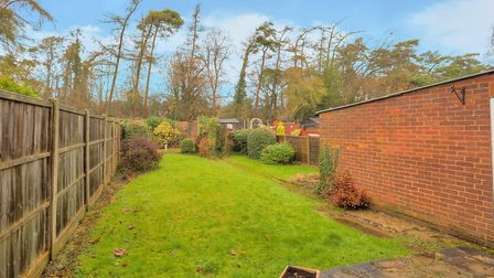 There is a spacious garden to the rear. Picture: Frost's