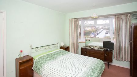 One of the property's three bedrooms. Picture: Frost's