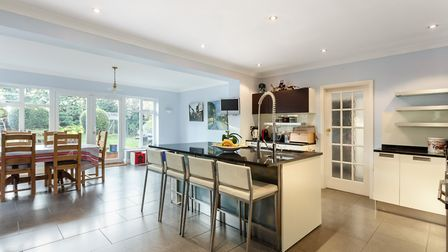 The kitchen comprises an excellent range of base and wall mounted fitted units with granite work sur