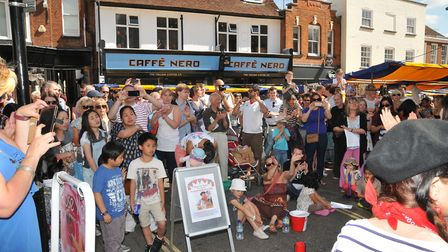 Buskers performed in memory of St Albans Accordion Man Paddy Delaney.