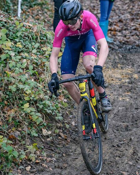 Verulam Reallymoving's Alfie Aldridge in action at round 12 of the 2019 Central Cyclo-cross League a