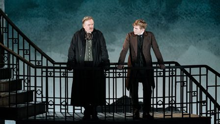 Simon Shepherd as Nicholas Kendall and Jack Holden as Philip Ashley in My Cousin Rachel, which can b