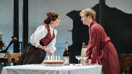 Helen George and Jack Holden in My Cousin Rachel, which can be seen at Cambridge Arts Theatre. Pictu