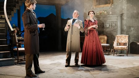 Jack Holden, Christopher Hollis and Helen George in My Cousin Rachel, which can be seen at Cambridge