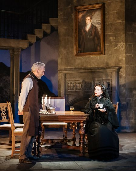 Sean Murray and Helen George in My Cousin Rachel, which can be seen at Cambridge Arts Theatre. Pictu
