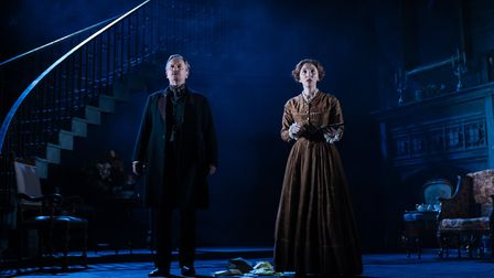 Simon Shepherd and Aruhan Galieva in My Cousin Rachel, which can be seen at Cambridge Arts Theatre.
