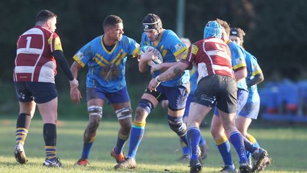 Verulamians V St Albans - David Coyle in action for the Verulamians.Picture: Karyn Haddon