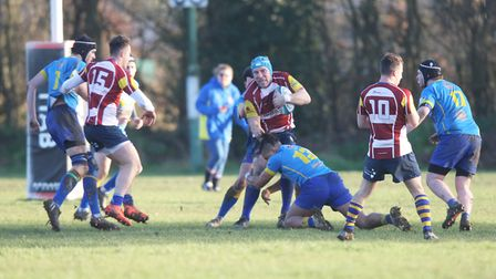 Verulamians V St Albans - Joe Shaw in action for St Albans.Picture: Karyn Haddon