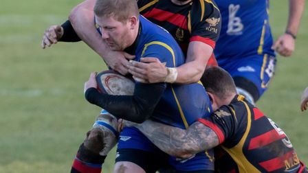 Paul Ashbridge went over for two tries during St Ives' loss to Belgrave. Picture: PAUL COX