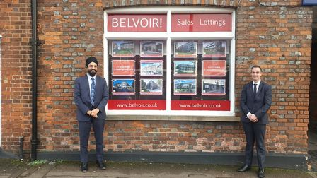 Davinder Gharial, director of Belvoir's St Albans, Welwyn and Hitchin franchises, left, and sales ma