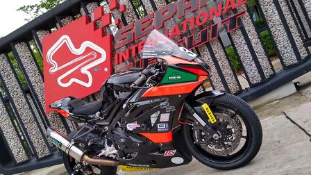 One of the British Endurance Racing Team's bikes at the Sepang International Circuit. Picture: SUBMI