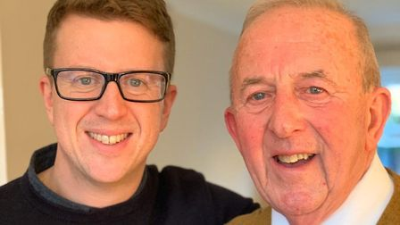 Matthew Hyde and his dad Richard