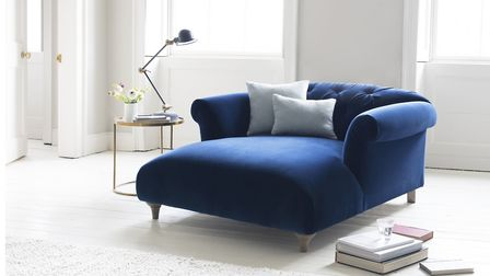 Dixie Love Seat Chaise, in Midnight velvet, from £1195 (was £1245), Loaf. Picture: Loaf/PA