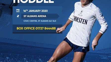 An Evening with Glenn Hoddle takes place at The Alban Arena in St Albans on Thursday, January 16,