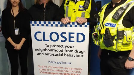 Police imposed a closure order in Telford Court in St Albans following reports of antisocial behavio